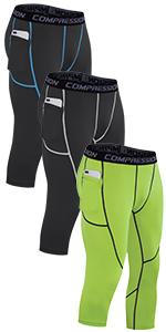 3/4 Menamp;#39;s Compression Pants