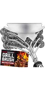Alpha Grillers Bristle Free Grill Brush & Scraper