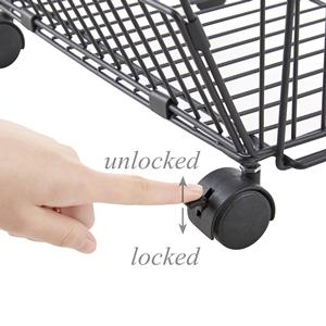 2 lockable universal wheels