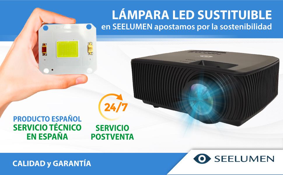 proyector con lampara intercambiable, proyector led, proyector cine en casa