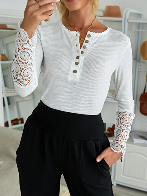 lace long sleeve top