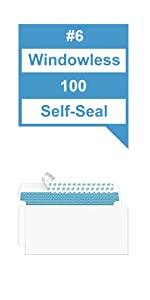 #6 Security Envelopes Self-Seal 100 Count