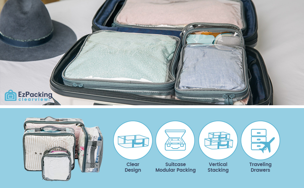 Traveling drawers packing cubes