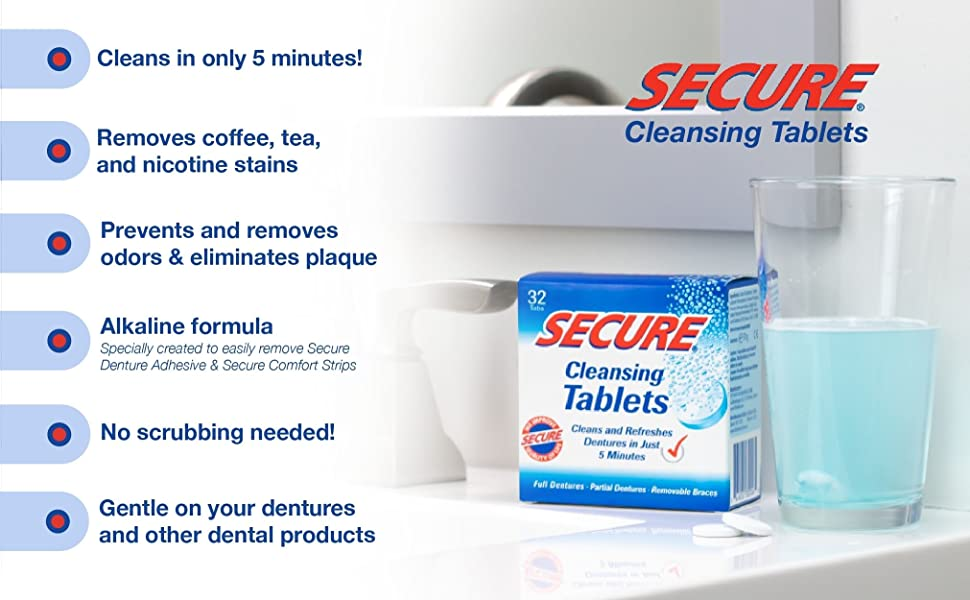 Secure Cleansing Tablets Features