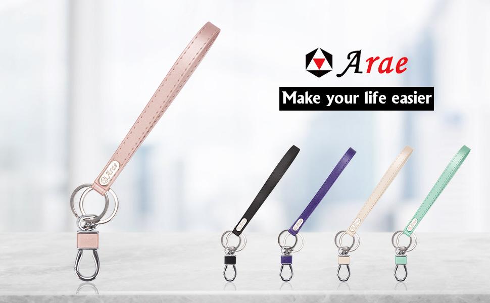 wallet purse key ring key chain wristlet keychain bracelet women girls men ring phone case