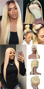 613 blonde human hair wigs