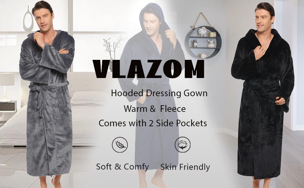 men long dressing gown,mens dressing gowns with hood long,men dressing gown with hood