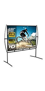 100'' projector screen with stand