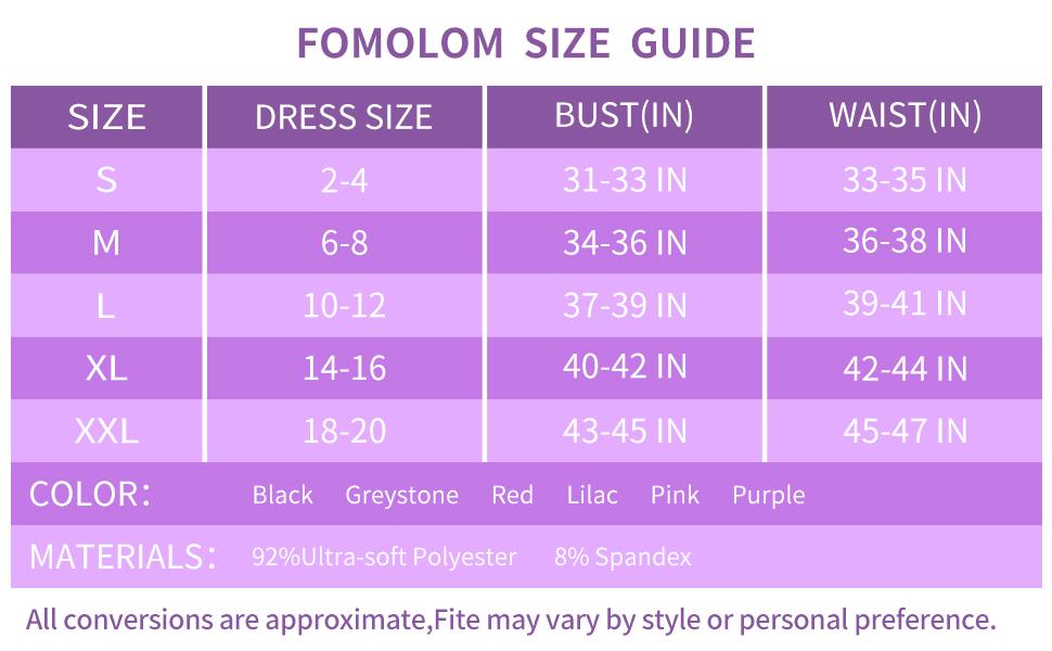 women thermal underwear size chart