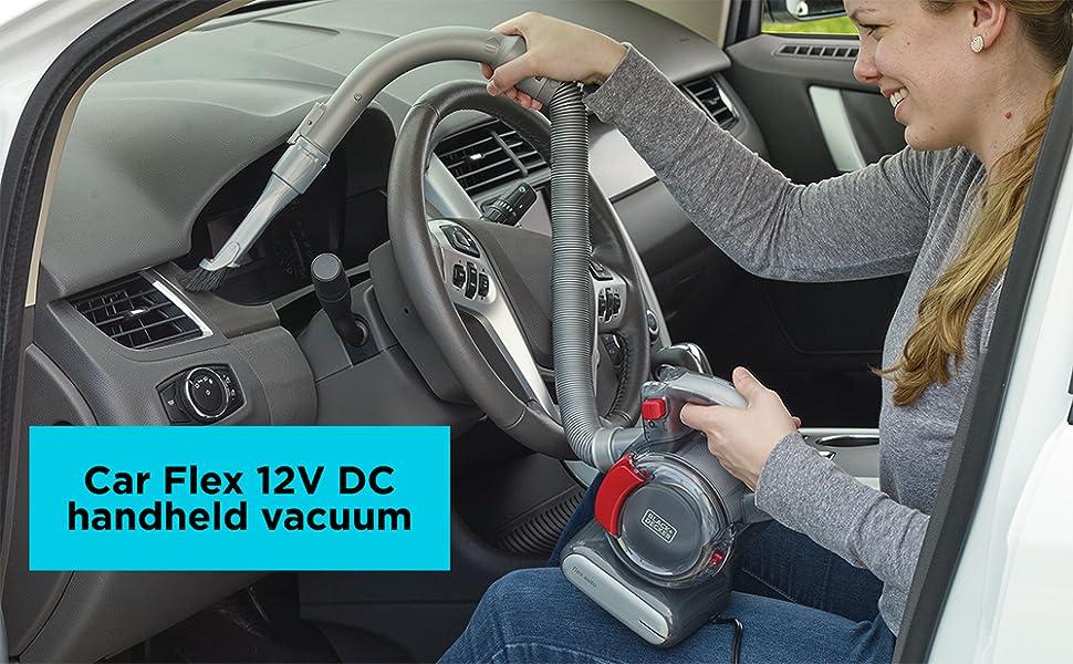 BLACK+DECKER Car Flex 12V Corded Handheld Vacuum (BDH1200FVAV)
