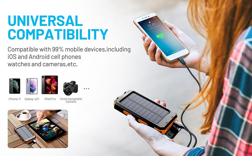 solar power cell charger Samsung android battery bank pack cargador solar portatil para celulares
