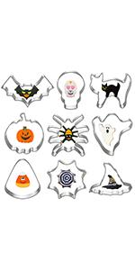 Hibery 9 pcs Halloween Cookie Cutters