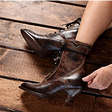 brown boots lace-up boots ladies chunky heels