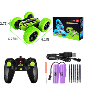 360°rotating, Rcfunkid remote control stunt car suitable for all-terrain driving