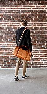 Berliner Bags Vintage Leather Duffle Bag München