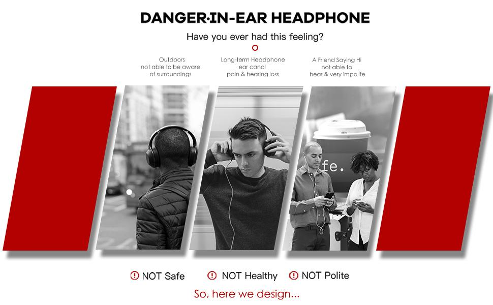 open ear headset is design for sports, it is the best choice to instead of in ear headphone
