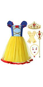 ReliBeauty princess Snow White costume for girls