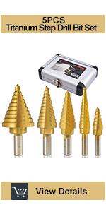 5pc step drill bit