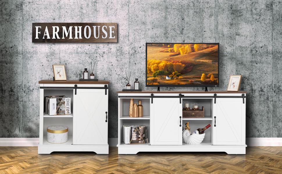 tv stand  barn door cabinet