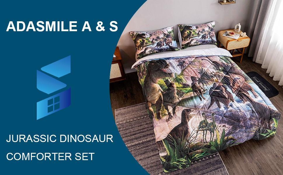 dinosaur comforter