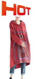 Women's Oversized Cotton Hoodies Dresses