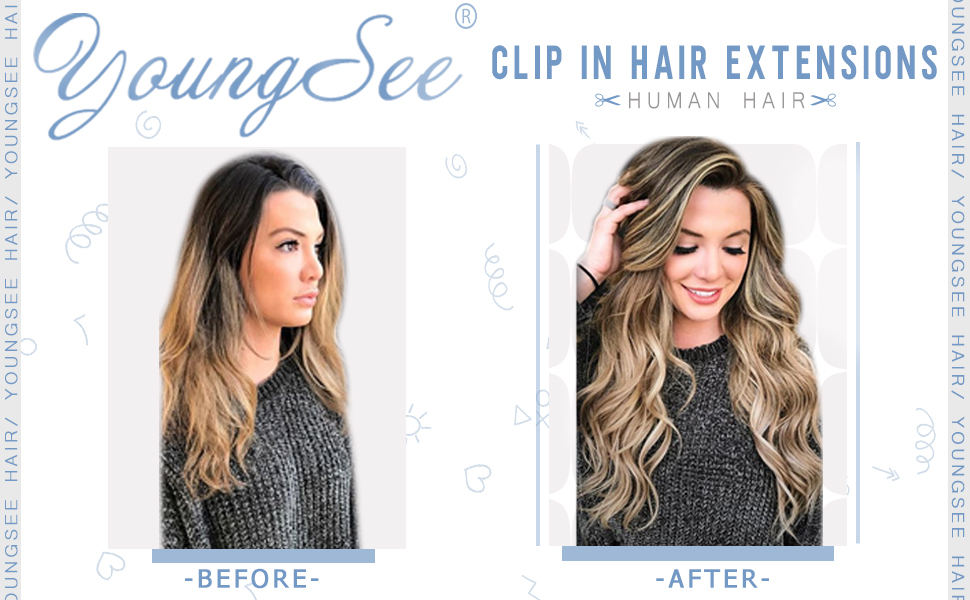 YoungSee Clip in Hair Extensions