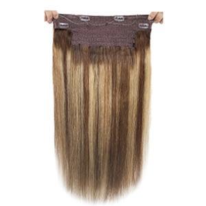 caramel blonde highlights halo hair extensions human hair