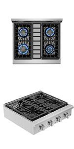 Tempered Glass Gas Cooktops 5 Italy Imported Sabaf Burners Stove Tops