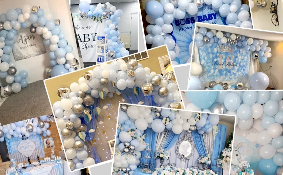 buyer show blue balloons garland arch kit for various parties