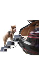 5 steps alum dog car ramp
