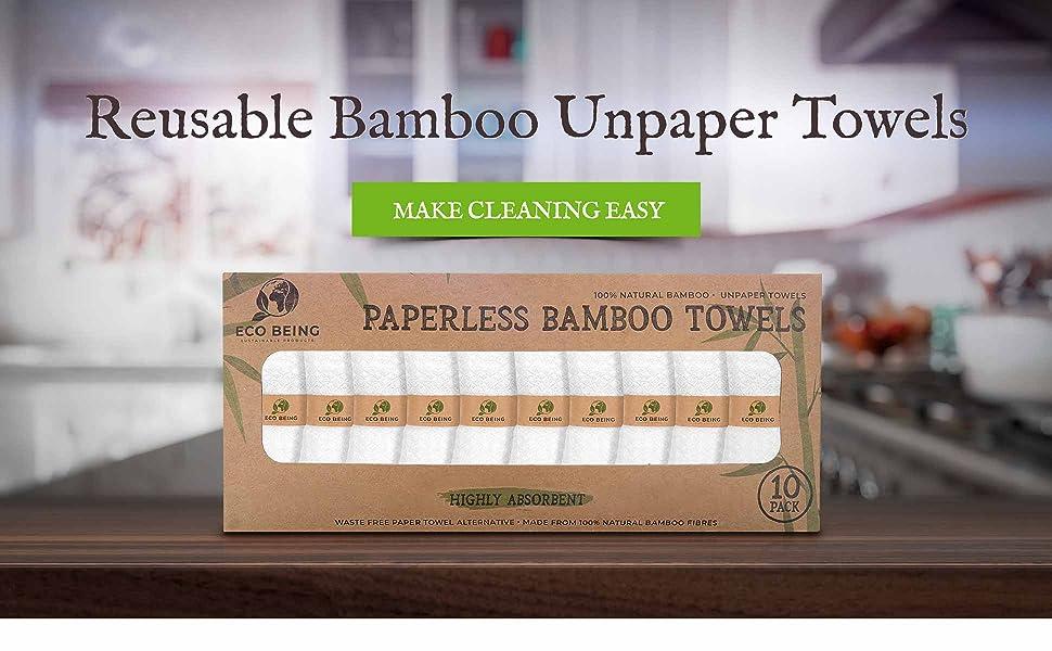 Reusable Bamboo Unpaper Towels