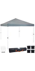 Gray Standard Pop-Up Canopy and Sandbags