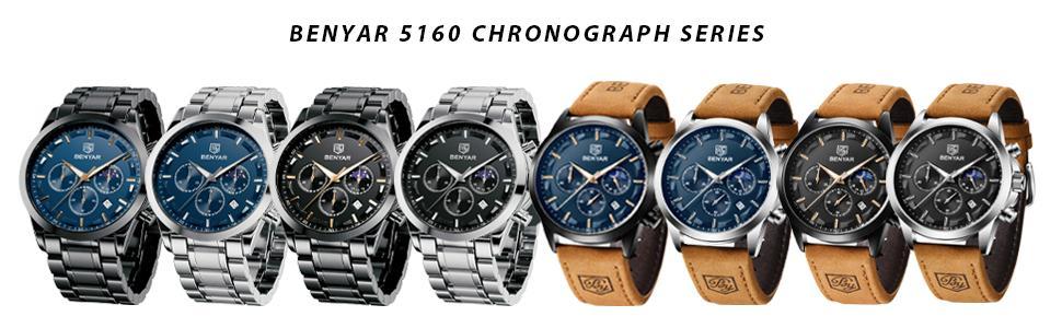BENYAR 5160 Chronograph Watch