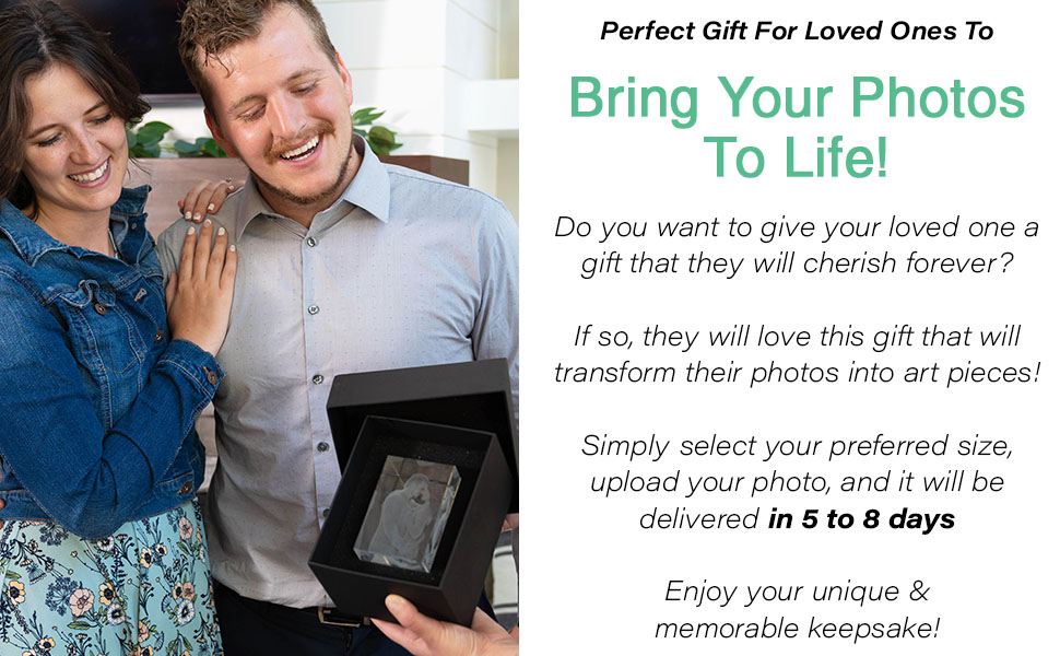 In 5-8 days your custom photo gift will arrive at your doorstep.