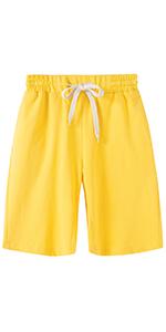 Womenamp;amp;#39;s Comfy Casual Bermuda Shorts Elastic Waist Drawstring Loose Fit Cotton Cargo Shorts