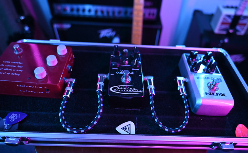 guitar patch cable, flat guitar pedal cable, guitar effect cables, pedalboard cables