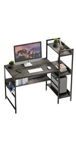 desk with storage shelve under desk 47 inch