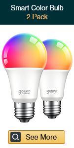 Gosund smart multicolor bulb 2 pack