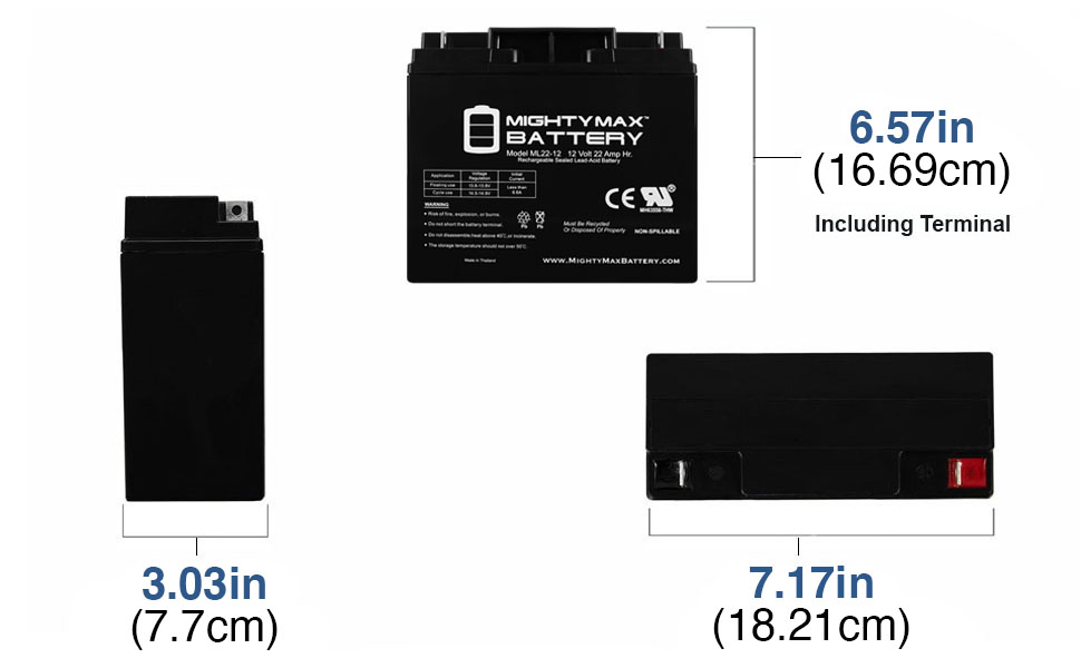 replacement rechargeable battery 12 v 22 ah Nut and Bolt terminal battery maintenance free