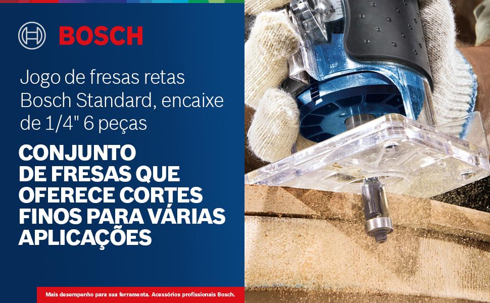 Jogo de fresas retas Bosch Standard