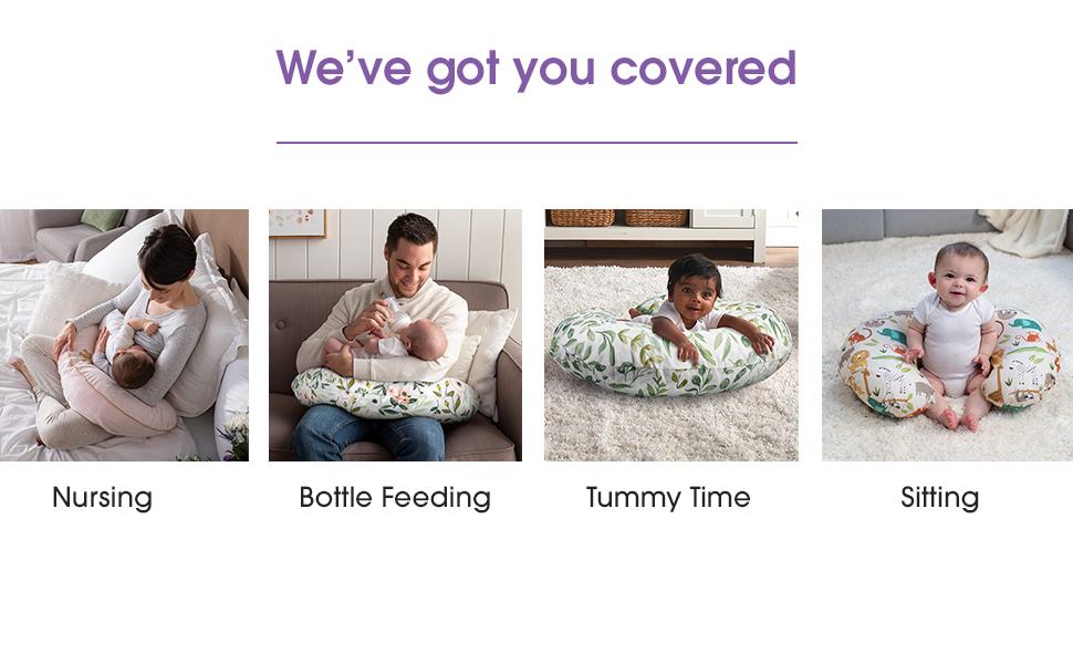Breastfeeding, Bottle Feeding, Propping, Tummy Time, Sitting