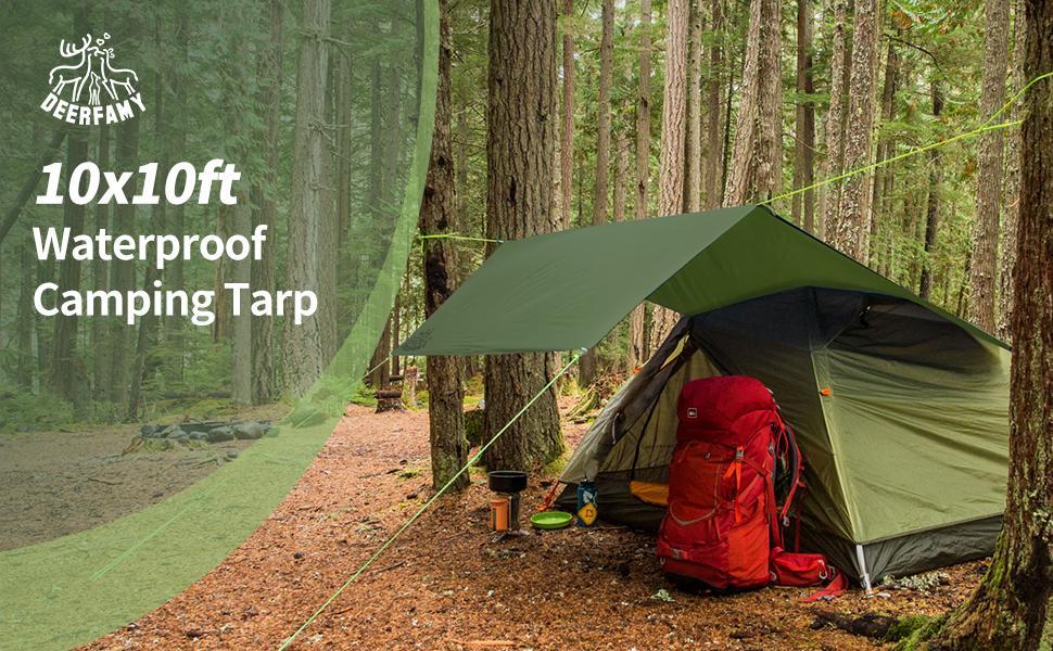DEERFAMY  Camping Tarp Waterproof