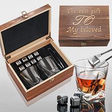 Whiskey Stones Gift Set for men