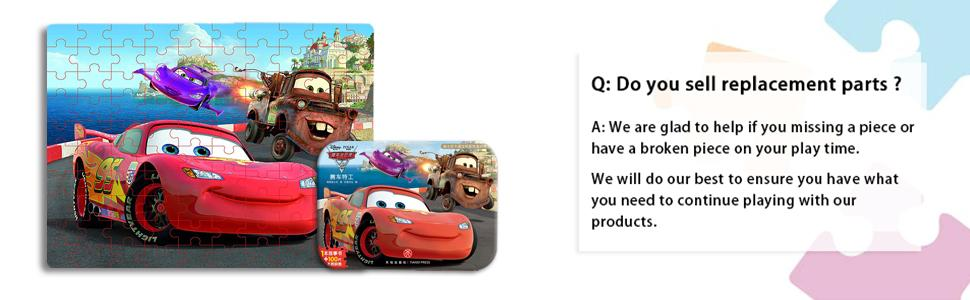 Disney racing car puzzle
