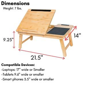Lap Tray, Wooden Lap Tray, Bamboo Lap Tray, Work Tray, Multitask Tray, Working Lap Tray, Folding