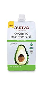 Avocado Oil 100% Pure 12 Fl Oz Flexible Spouted Pouch