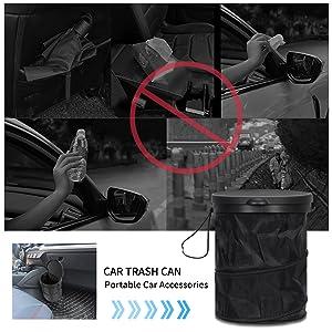 Car Trash Can with Lid, Car Organizer Bag Storage