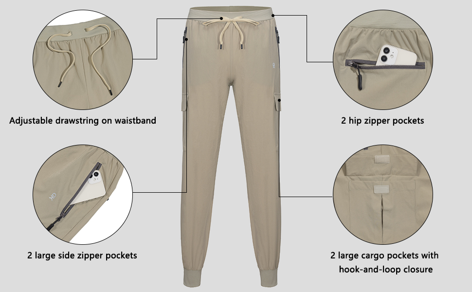 hiking pants with multi-pockets