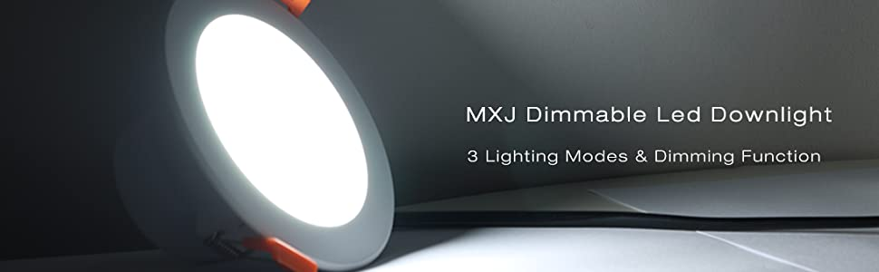 The downlight has high light transmittance, and will not turn yellow and dull over time