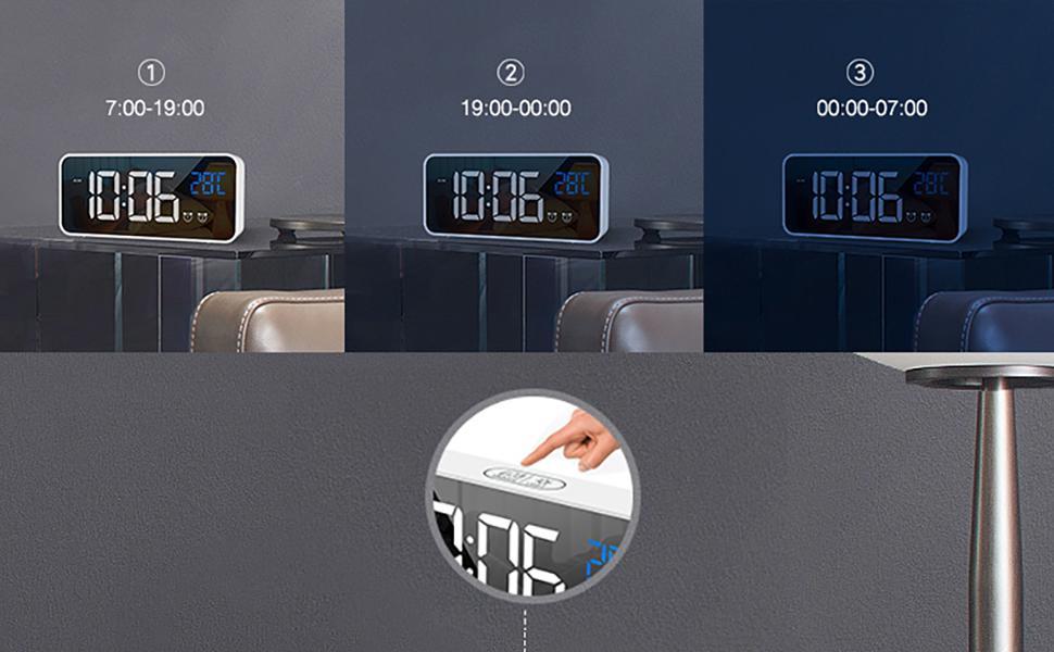 LED alarm clock for bedroom